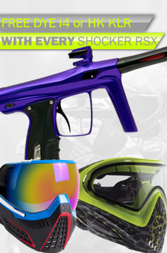 Free Goggle with Shocker RSX Marker