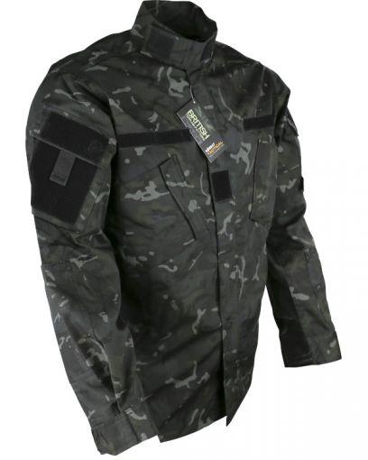 Kombat UK Assault Shirt - ACU Style - BTP Black