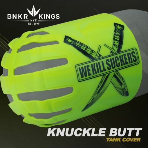 Knuckle Butt Tank Cover - WKS Knife - Lime