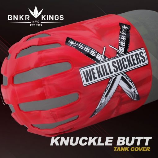 Knuckle Butt Tank Cover - WKS Knife - Red