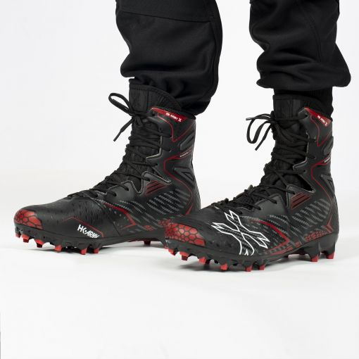 HK Army Diggerz_X1 1.5 Hightop Cleats - Black/Red