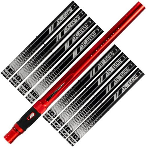 HK Army LAZR Barrel Kit - Black Inserts - Red - Cocker Thread
