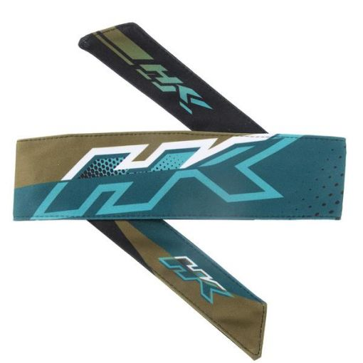 HK Headband Retro Edge - Aqua/Gold