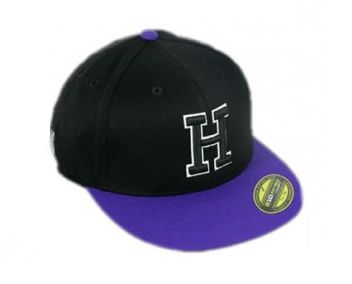 Hk Fitted H Cap - Black/Purple - L/XL