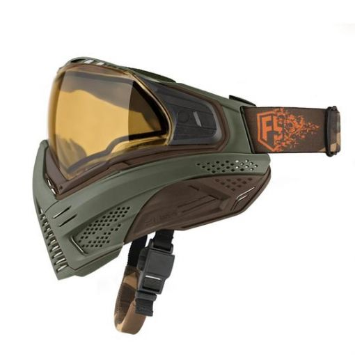 First Strike X Push Unite Mask - Olive/Brown