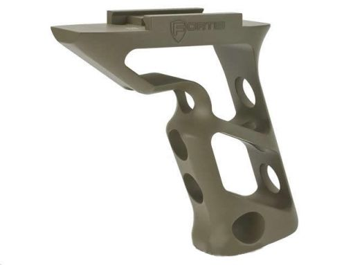 PTS Fortis Shift - CNC Machined Billet Aluminum Short Vertical Grip - Picatinny Mount - Dark Earth
