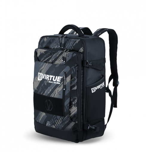 Virtue Gambler Expanding Backpack - Graphic Black
