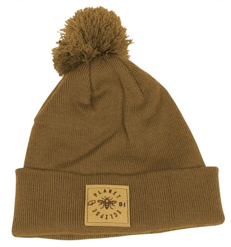 Eclipse Worker Pom Beanie - Caramel