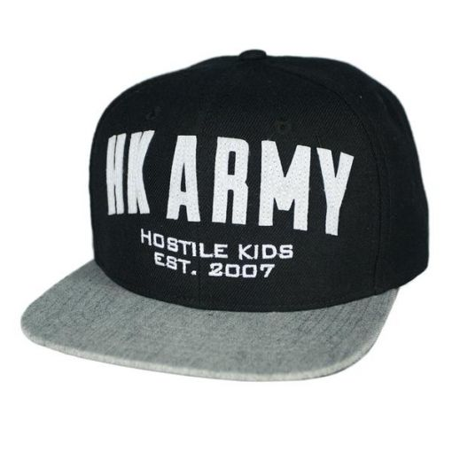 HK Army Varsity Snapback - Black/Grey