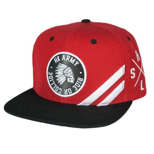HK Army Collide Snapback - Red/Black