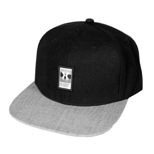 HK Army Wavy Snapback - Black/Grey