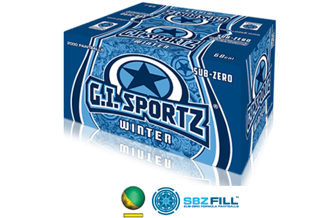GI Sportz 2000 Winter Formula Paintballs
