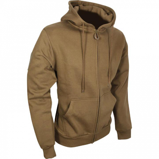 Tactical Zipped Hoodie - Coyote