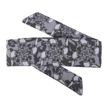 HK Hostilewear Headband - Skulls Grey