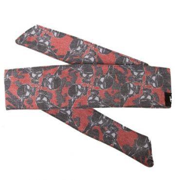 HK Hostilewear Headband - Skulls Red/Black