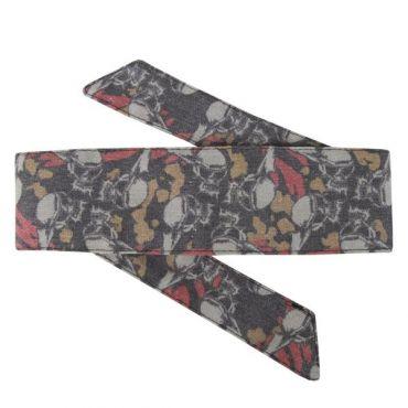 HK Hostilewear Headband - Skulls Tan/Red