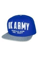 HK Army Varsity Snapback - Blue/Grey