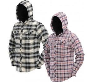 DYE Hooded Flannel