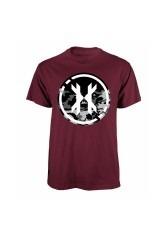 HK T-Shirt Blot Burgundy