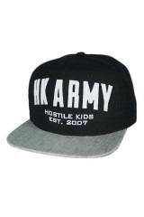 HK Army Varsity Snapback - Black/Grey