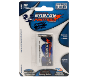 Energy Paintball Single 9V Battery -