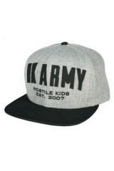 HK Army Varsity Snapback - Grey/Black