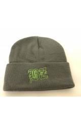 BZ Logo Beanie - Grey/Lime