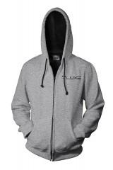 Luxe Zipper Hoodie Grey/Black