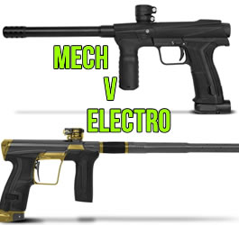 Electronic vs Mechanical Paintball Markers