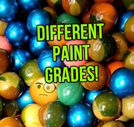 The Different Grades of Paintballs
