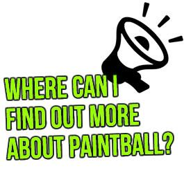 Where can I find out more about paintball?