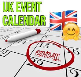 Paintball Events Calendar 2020 (UK)